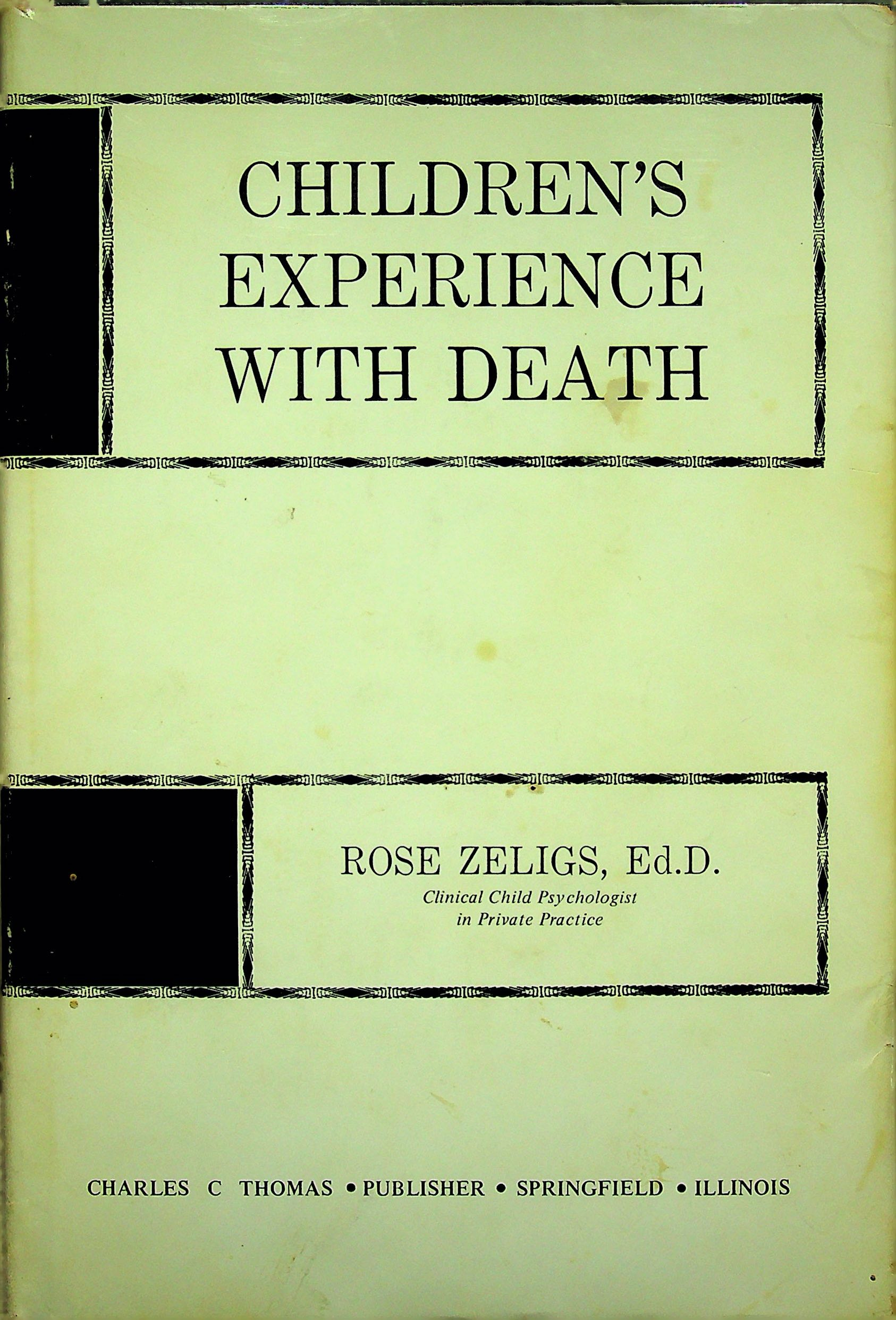 Image for Children's experience with death